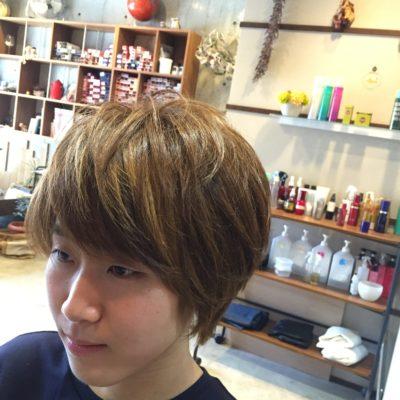 前髪インナーカラー